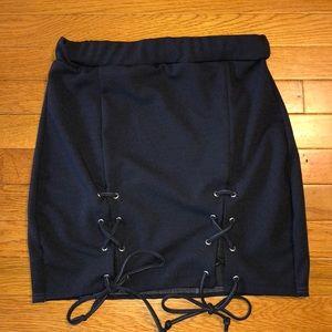 PrettyLittleThing Navy Skirt